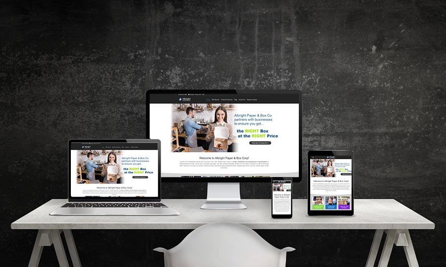 Albright Box Website Design | LMS Solutions