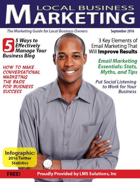 September 2016 Local Business Marketing Magazine